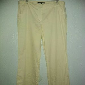New Theory Pants 10 Wide Leg Cotton Beige